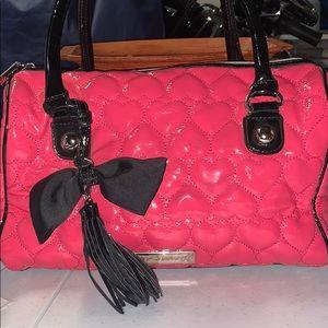 Betsey Johnson Pink Heart Quilted Handbag